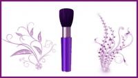 Кисти для макияжа для пудры, румян, масок, бровей и ресниц, губ