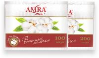 Ватные палочки Amra (в пакете)
