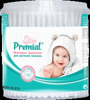 Ватные палочки Premial детские (цилиндр)