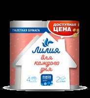 """Туалетная бумага """"Лилия """" 2-х сл. БЕЛЫЙ"""