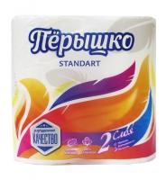"""Туалетная бумага """"Перышко"""" 2 сл БЕЛЫЙ"""